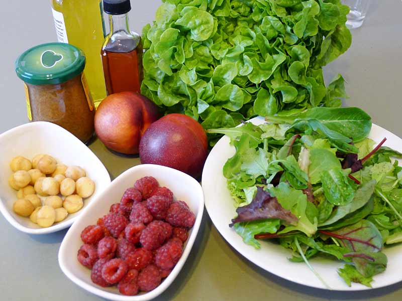 Fruchtiger-Salat-Zutaten