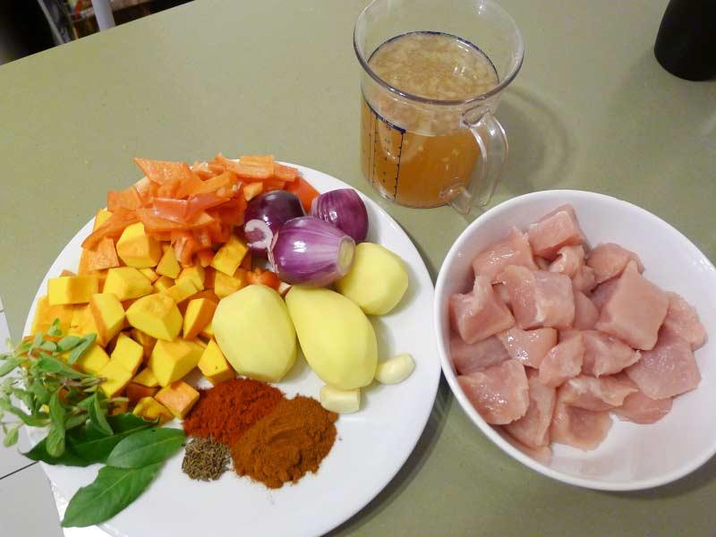 Putengulasch-mit-Kuerbis-Zutaten