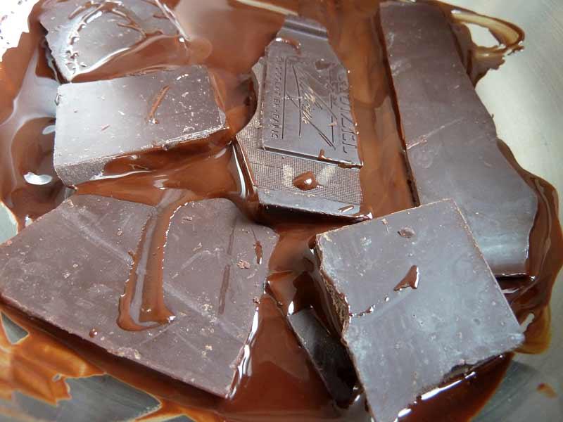 Schokoladeneis-Schokolade-schmelzen