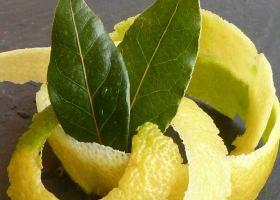 Zitronenschalen-Tee mit Lorbeer