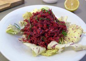 Rote-Bete-Salat mit Zitronenmelisse