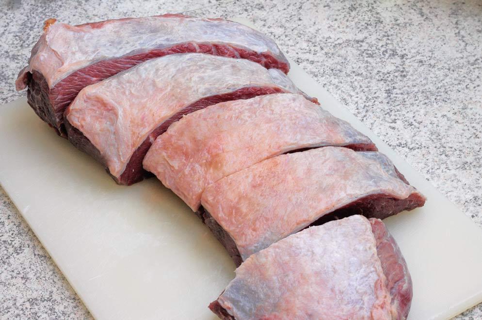 Picanha-geschnitten
