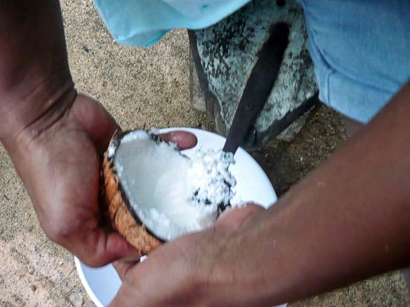 kokosnuss-oeffnen-ausreiben