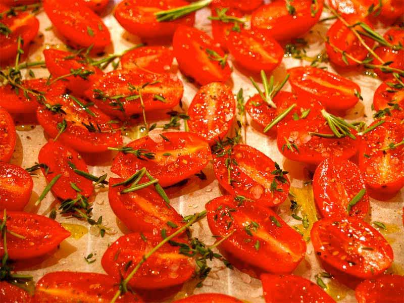Tomaten-ofentrocken