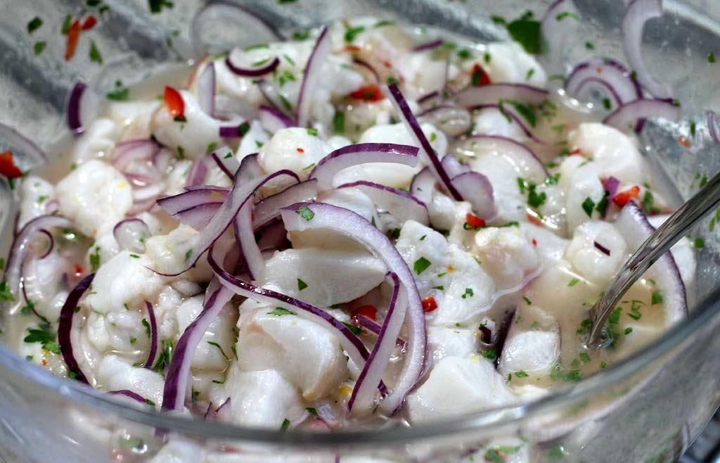 Ceviche-aus-Fischfilet-und-Pulpo-eingelegte-Zutaten